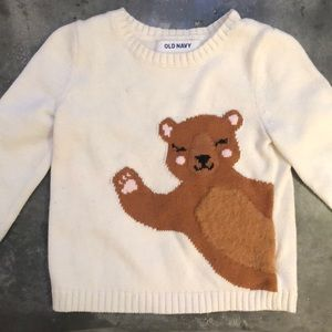 Old Navy waving bear sweater!!